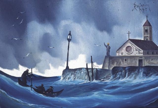 Il mare -1975 Olio su tela - cm 40x30