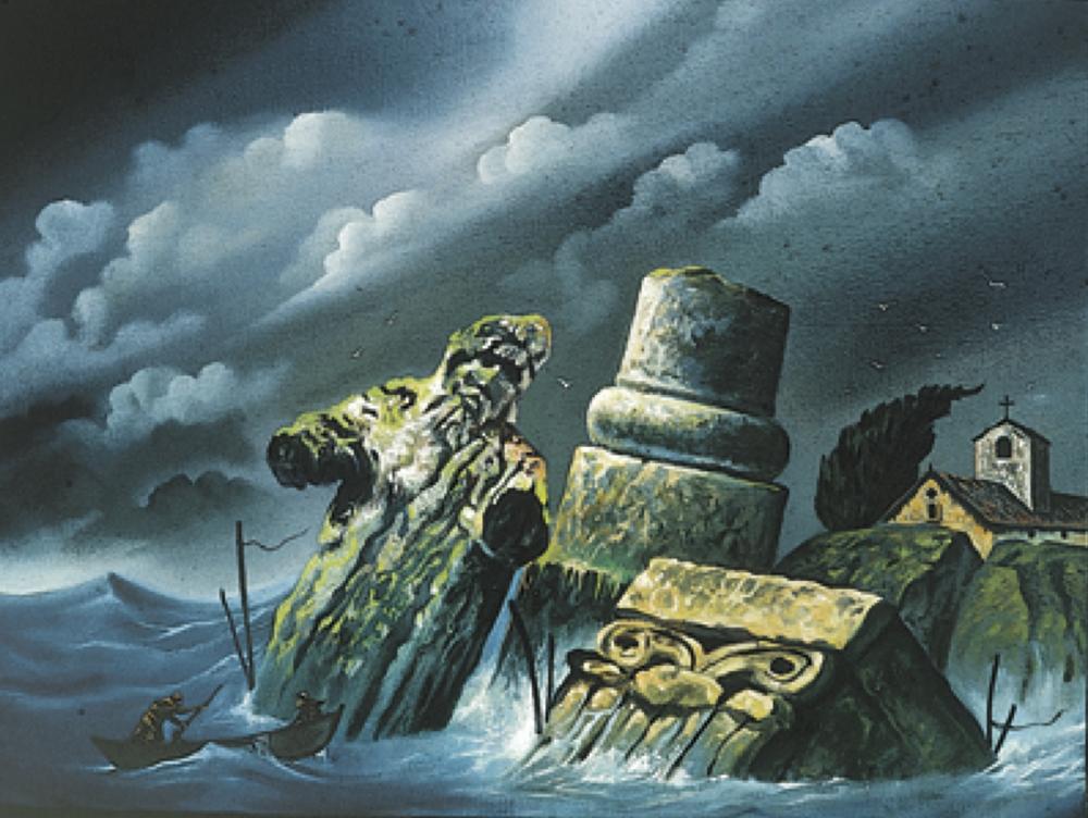 Mare mosso - 1980 Olio su tela - cm 40x30