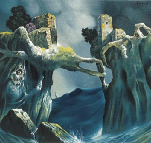 Gli scogli - 1982 Olio su tela - cm 50x50