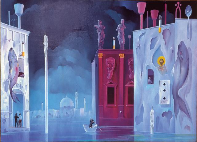 Giornata quieta a Venezia - 1961 Olio su tela - cm 70x50