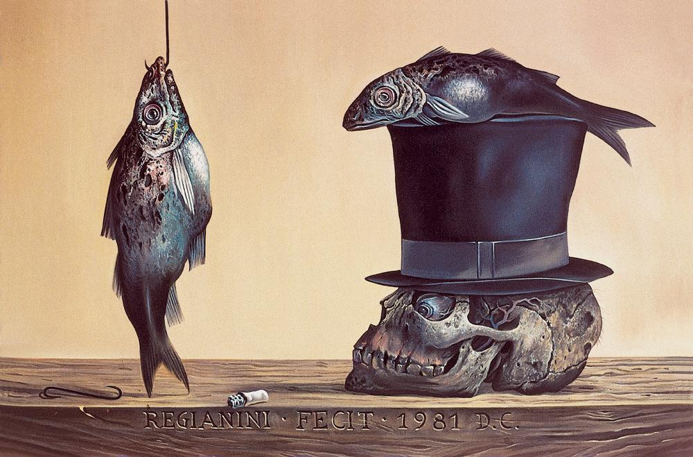 Natura morta con cilindro - 1981 Olio su tela - cm 60x40