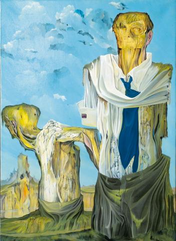 Uomini soli - 1959 Olio su tela - cm 50x70