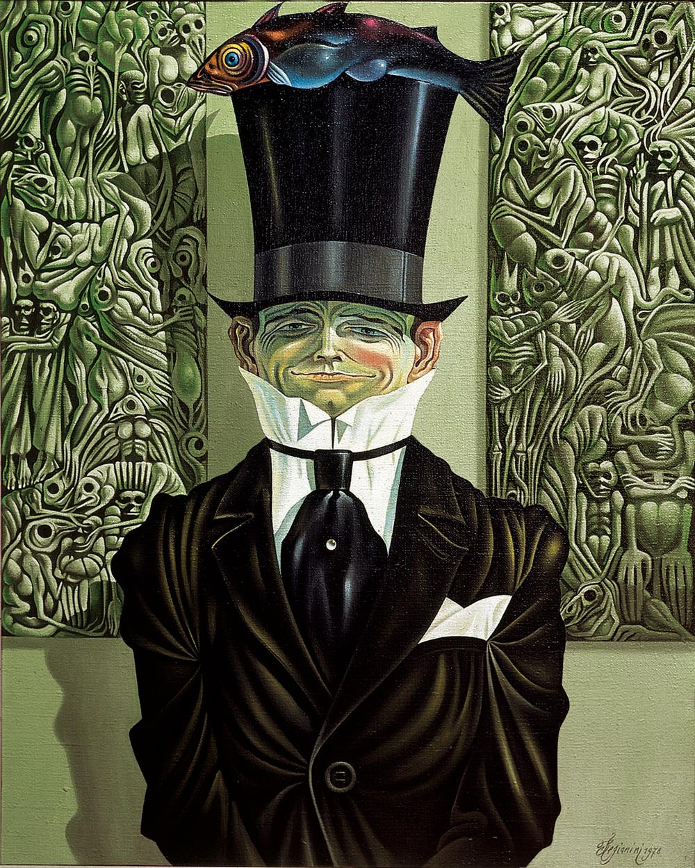 Il sorriso - 1978 Olio su tela - cm 80x100