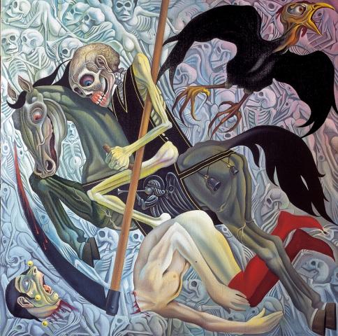L'apocalisse - 1982 Olio su tela - cm 100x100