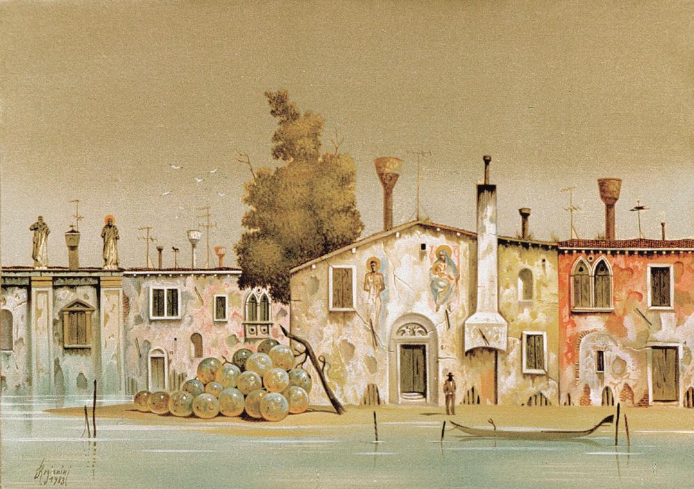 Venezia (periferia) - 1983 Olio su tela - cm 70x50