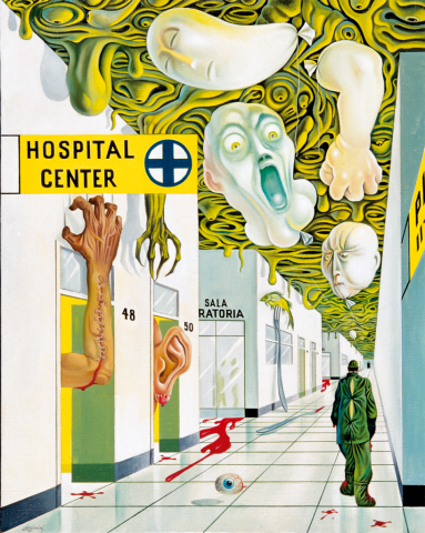 IL DOLORE Hospital Center - 1985 Olio su tela - cm 80x100